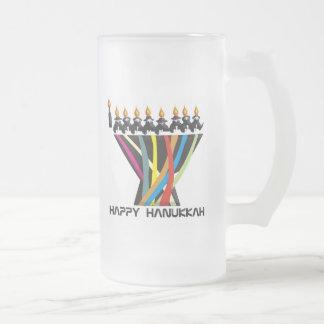 Jánuca feliz taza de café