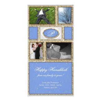 Jánuca formal azul tarjetas fotograficas