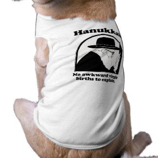 Jánuca - nacimientos virginales no torpes camiseta de perrito
