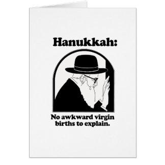 Jánuca - nacimientos virginales no torpes tarjeta de felicitación