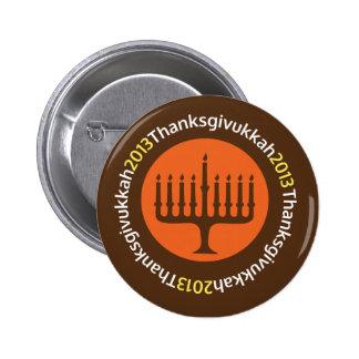 Jánuca/Pin de Thanksgivukkah Pin Redondo 5 Cm