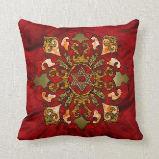 Jánuca rojo almohadas