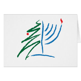 Jánuca/tarjeta de Navidad Tarjeta De Felicitación