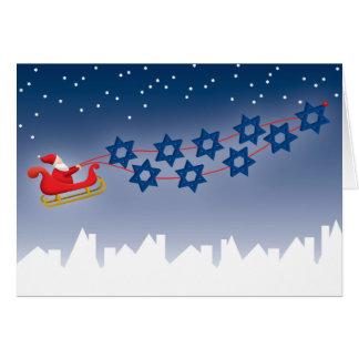 Jánuca y tarjeta de Navidad
