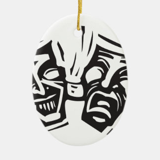 Janus Ceramic Ornament