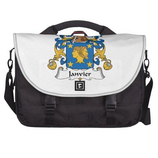 Janvier Family Crest Laptop Commuter Bag