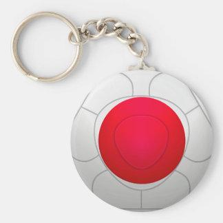 Japan 日本国  Football Basic Round Button Keychain