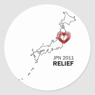 Japan 2011 Earthquake tsunami relief Classic Round Sticker