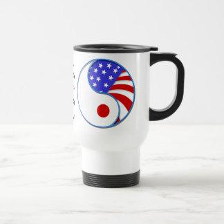Japan  aid USA Yinyang travel mug