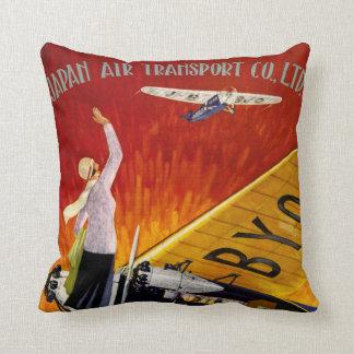 Japan Air Transport Throw Pillow