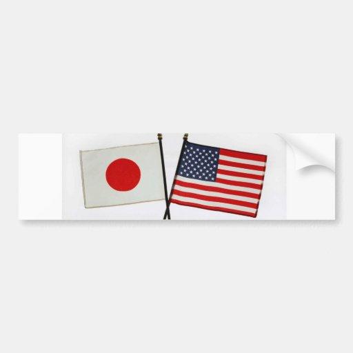 JAPAN / AMERICA BUMPER STICKER