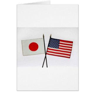JAPAN AMERICAN FLAG CARD