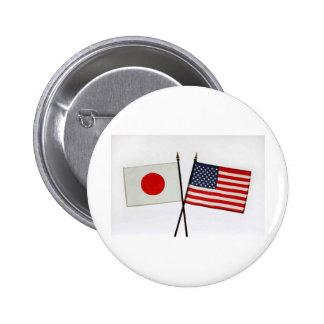 JAPAN AMERICAN FLAG PINS