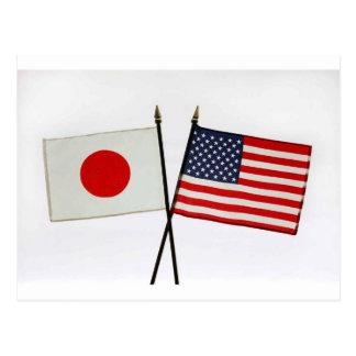 JAPAN AMERICAN FLAG POSTCARD