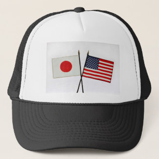 JAPAN AMERICAN FLAG TRUCKER HAT