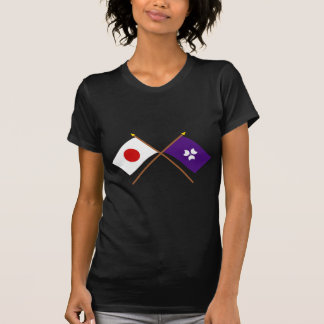 Japan and Gunma Crossed Flags T Shirts