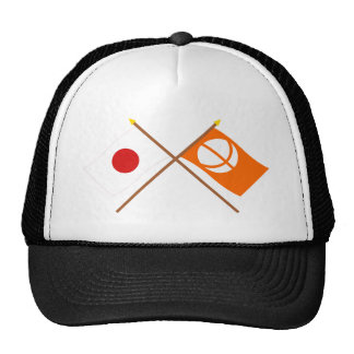 Japan and Nagano Crossed Flags Trucker Hat