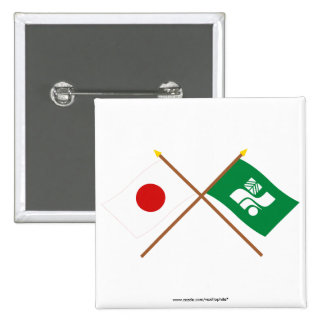 Japan and Tochigi Crossed Flags Pins