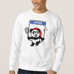 Men's Basic Sweatshirt with Japan Badminton Panda design