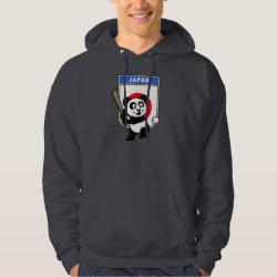 Men's Basic Hooded Sweatshirt with Japan Baseball Panda design