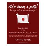 Japan Brush Flag Custom Invitations