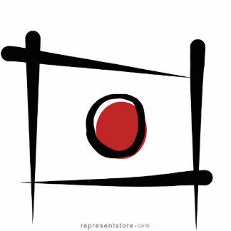 Japan Brush Flag Cutout
