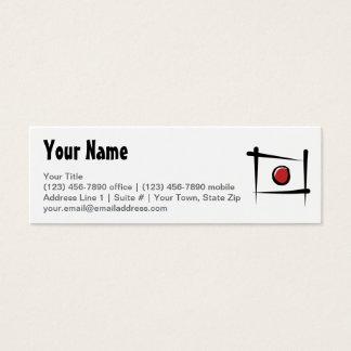Japan Brush Flag Mini Business Card