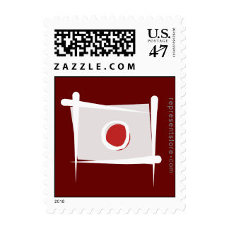 Japan Brush Flag Postage