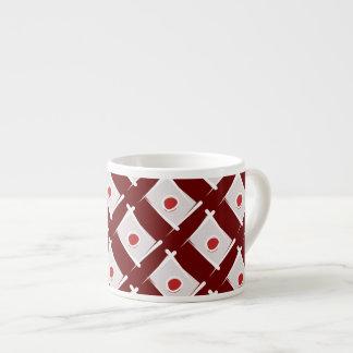 Japan Brush Flag 6 Oz Ceramic Espresso Cup