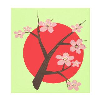 Japan cherry blossom sakura branch floral print gallery wrap canvas
