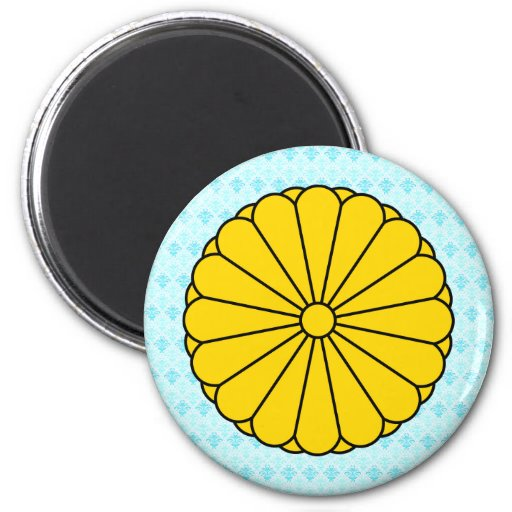 Japan Coat of Arms detail 2 Inch Round Magnet