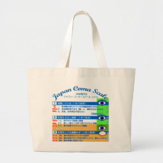 Japan coma scale 2 large tote bag