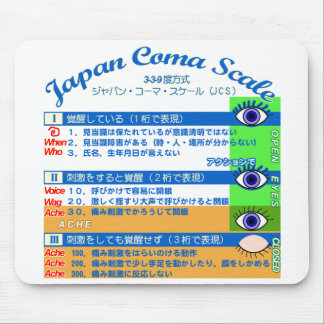 Japan coma scale 2 mouse pad