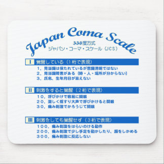 Japan coma scale mouse pad