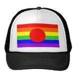 japan country gay proud rainbow flag homosexual trucker hat