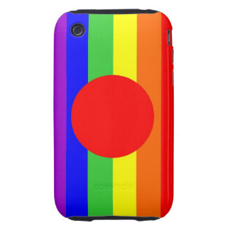 japan country gay proud rainbow flag homosexual iPhone 3 tough case