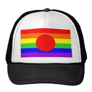 japan country gay proud rainbow flag homosexual trucker hat