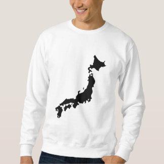 Japan Country Map Outline Black Silhouette Japan Sweatshirt