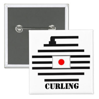 Japan Curling 2 Inch Square Button