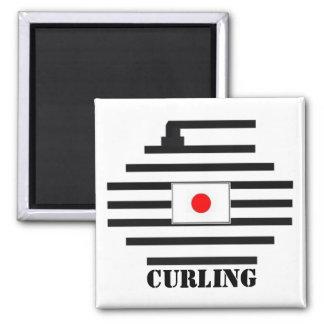 Japan Curling Magnet