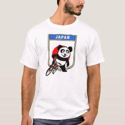 Men's Basic T-Shirt with Japanese Cycling Panda design