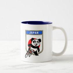 Two-Tone Mug with Japanese Cycling Panda design