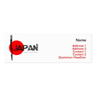 Japan Disaster Relief Business Card