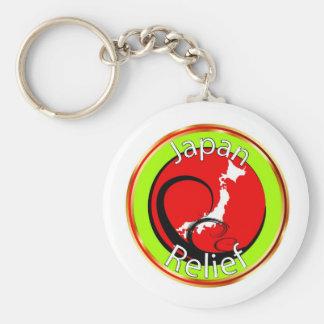 Japan Disaster Relief Basic Round Button Keychain
