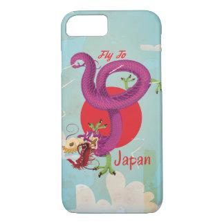 Japan Dragon Vintage Travel Poster iPhone 8/7 Case
