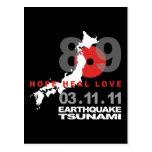 Japan Earthquake 8.9 Postcard