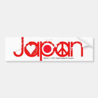 Japan Earthquake Bumper Sticker Love Peace Hope