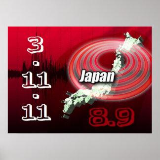 Japan Earthquake Tsunami Poster
