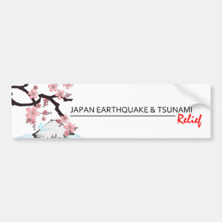 *Japan Earthquake/Tsunami Relief * bumper sticker Car Bumper Sticker
