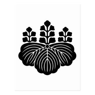 japan emblem postcard